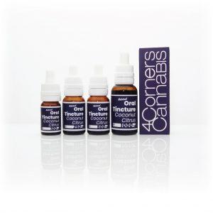 4CC, 4 Corners Cannabis, Four Corners Cannabis, 4CC blue bottle, 4CC blue label